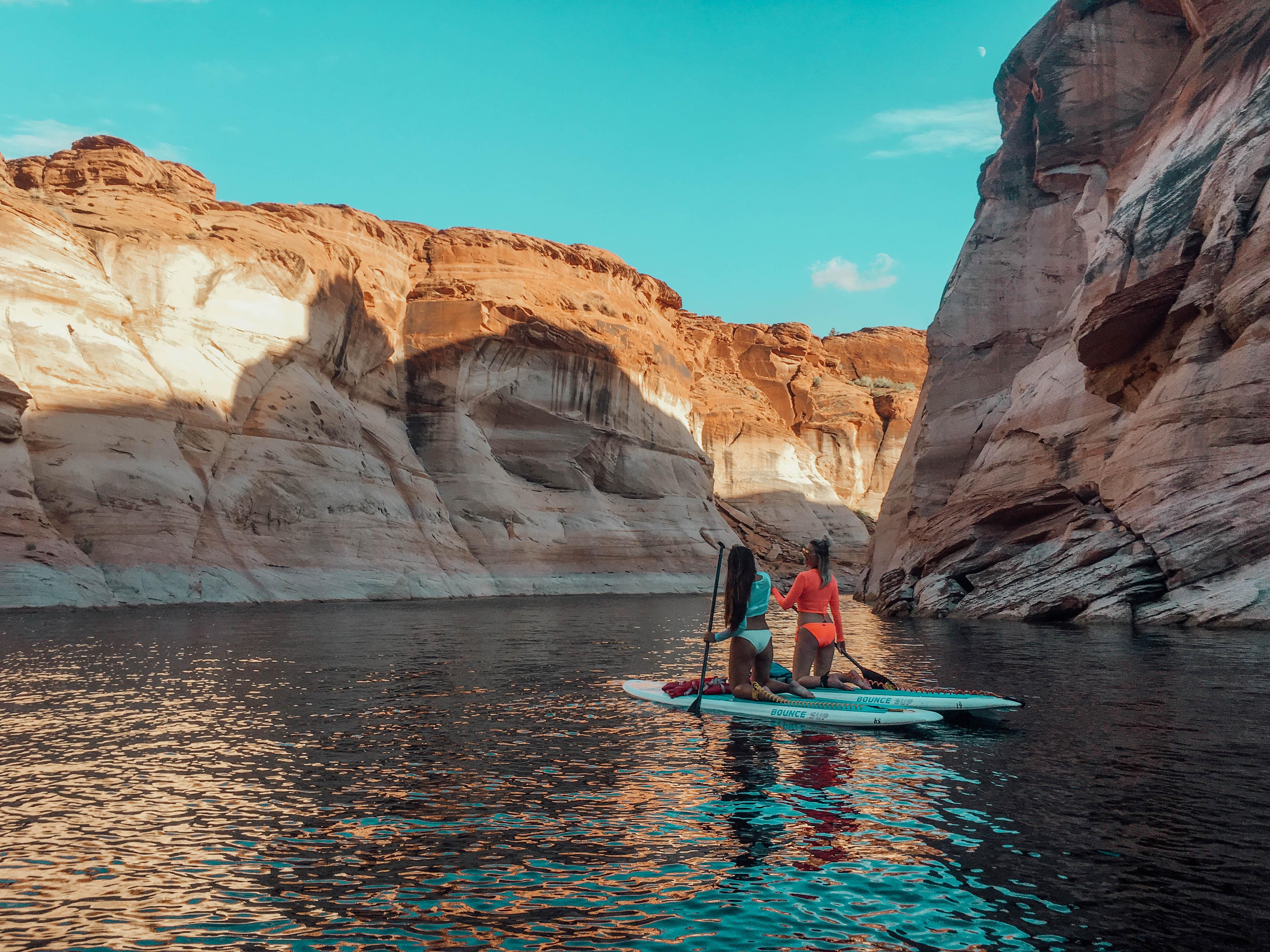 Paddleboarding on Lake Powell