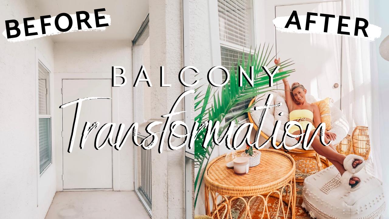 Cozy Boho Balcony Transformation on a Budget!